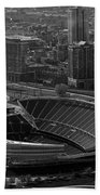 Soldier Field Chicago Sports 05 Black And White Beach Towel