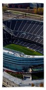 Soldier Field Chicago Sports 06 Beach Towel by Thomas Woolworth