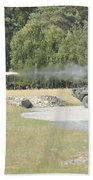 Soldiers Fire A Tow Missile Beach Towel