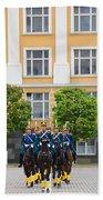 Soldiers Of The Presidential Regimental Beach Towel