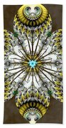 Solitary Bird Of Prey Beach Sheet by Derek Gedney