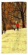Solitude With A Friend Beach Towel