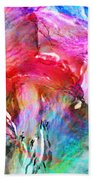 Somebody's Smiling - Abstract Art Beach Towel
