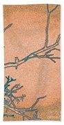Songbird Peach Beach Towel