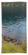 Soothing Lake Crescent Beach Towel