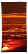 Soothing Saturday Sunset Beach Towel