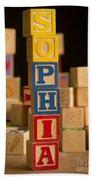 Sophia - Alphabet Blocks Beach Towel