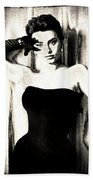 Sophia Loren - Black And White Beach Towel