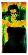 Sophia Loren - Neon Pop Art Beach Towel
