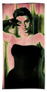 Sophia Loren - Pink Pop Art Beach Towel