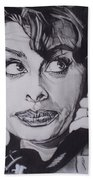 Sophia Loren Telephones Beach Towel