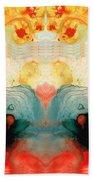 Soul Star - Abstract Art By Sharon Cummings Beach Sheet