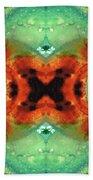 Soul Symphony - Abstract Art By Sharon Cummings Beach Towel