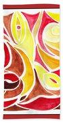 Sounds Of Color Doodle 2 Beach Towel