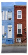 South Baltimore Row Homes Beach Towel