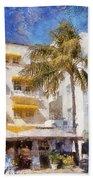South Beach Miami Art Deco Buildings Beach Towel