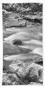 South Boulder Creek Little Waterfalls Rollinsville Bw Beach Towel