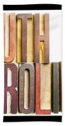 South Carolina Antique Letterpress Printing Blocks Beach Towel