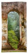 South Carolina Historic Church Photo Sheldon Ruins-- Another View From The Inside Beach Towel