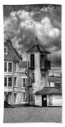 South Lookout Tower Aldeburgh Black And White Beach Towel