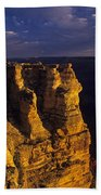 South Rim Grand Canyon Taken Near Mather Point Sunrise Light On  Beach Towel