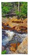 Southeast Brook Above Falls In Gros Morne Np-nl Beach Towel
