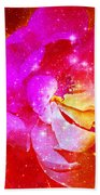 Southern Belle / Hot Pink Magnolia  Beach Towel