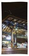 Southern Cross Rail Station In Melbourne Australia Beach Towel