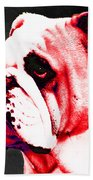 Southern Dawg By Sharon Cummings Beach Towel