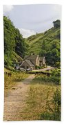 Southern End Of Wolfscote Dale Beach Towel
