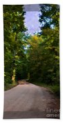 Southern Missouri Country Road I Beach Towel