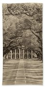 Southern Time Travel Sepia Beach Towel