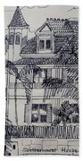 Southernmost House  Key West Florida Beach Towel