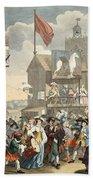 Southwark Fair, 1733, Illustration Beach Towel