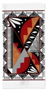 Southwest Collection - Design Seven In Red Beach Towel