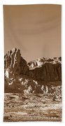 Southwest In Sepia  Beach Towel
