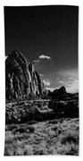 Southwestern Beauty In Black And White Beach Towel