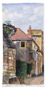 Souvigny Eclectic Architecture In A Village In Central France Beach Towel