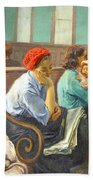Soyer's A Railroad Station Waiting Room Beach Towel