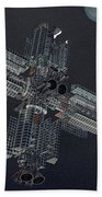 Space Colony Beach Towel