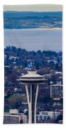 Space Needle 12th Man Seahawks Beach Towel
