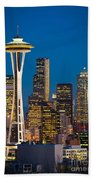 Space Needle Evening Beach Towel