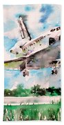 Space Shuttle Landing Beach Towel