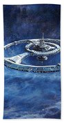 Deep Space Eight Station Of The Future Beach Towel