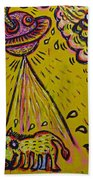 Spaceship Dog Graffiti Beach Towel