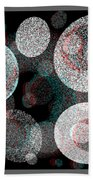 Spacial Rift - View With Or Without Red-cyan 3d Glasses Beach Towel