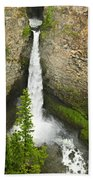 Spahats Falls Waterfall In Wells Gray Provincial Park Beach Towel