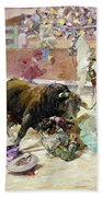Spain - Bullfight C1900 Beach Towel