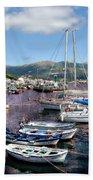 Boats In Spain Series 26 Beach Towel