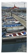 Row Boats In Spain Series 27 Beach Towel